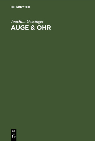 Auge & Ohr - Blick ins Buch