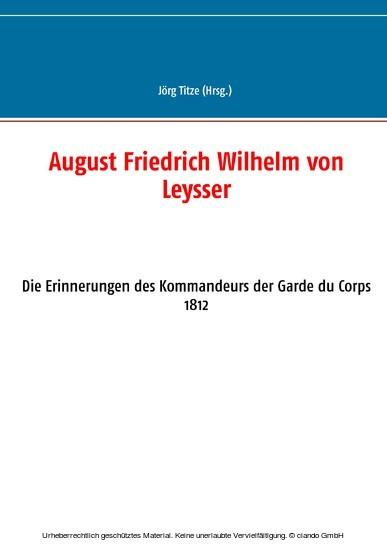 August Friedrich Wilhelm von Leysser - Blick ins Buch