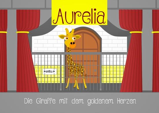 Aurelia, die Giraffe mit dem goldenem Herzen - Blick ins Buch