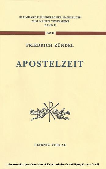 Aus der Apostelzeit - Blick ins Buch