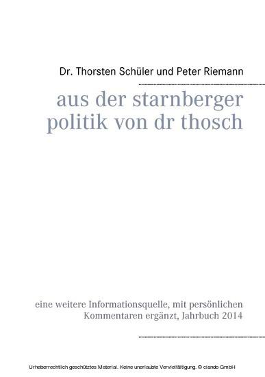 Aus der Starnberger Politik von Dr. Thosch - Blick ins Buch