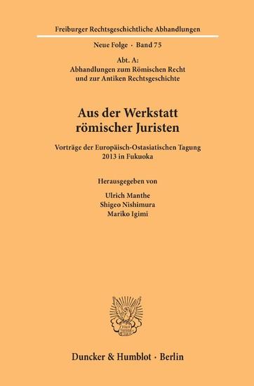 Aus der Werkstatt römischer Juristen. - Blick ins Buch