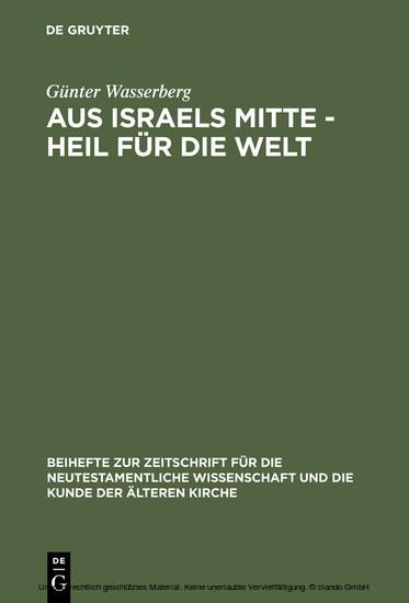 Aus Israels Mitte - Heil für die Welt - Blick ins Buch