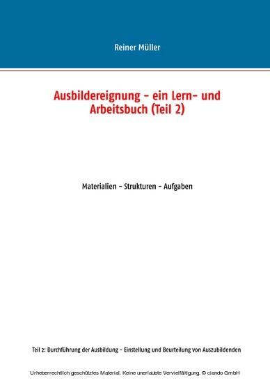 Ausbildereignung - ein Lern- und Arbeitsbuch (Teil 2) - Blick ins Buch