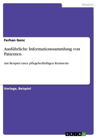 Ausführliche Informationssammlung von Patienten - Blick ins Buch