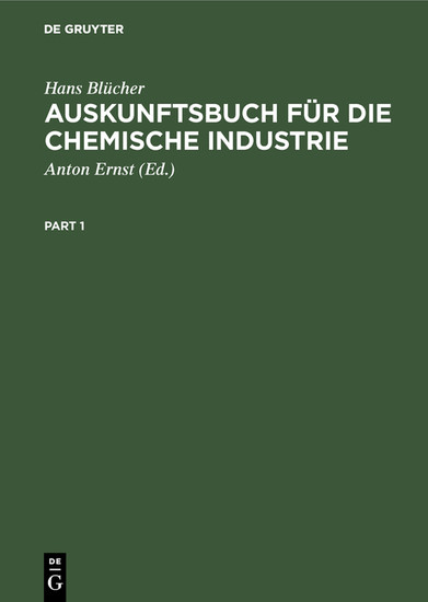 Auskunftsbuch für die chemische Industrie - Blick ins Buch