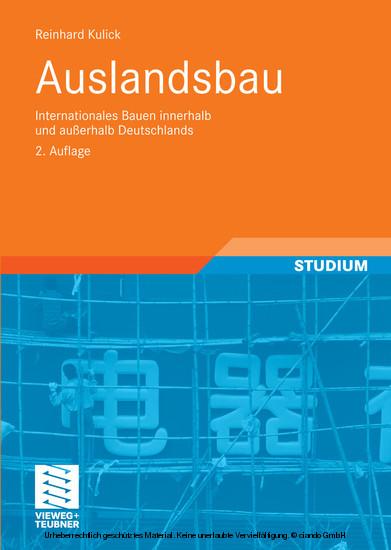 Auslandsbau - Blick ins Buch