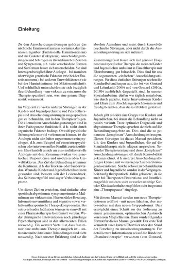 Ausscheidungsstörungen bei Kindern und Jugendlichen - Blick ins Buch