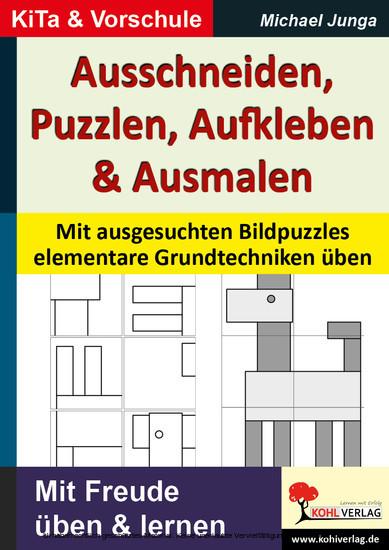 Ausschneiden, Puzzeln, Aufkleben, Ausmalen - Blick ins Buch