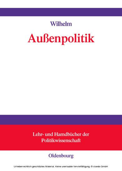 Außenpolitik - Blick ins Buch