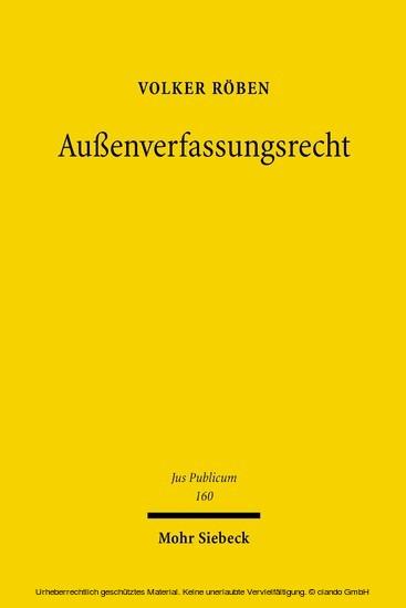 Außenverfassungsrecht - Blick ins Buch