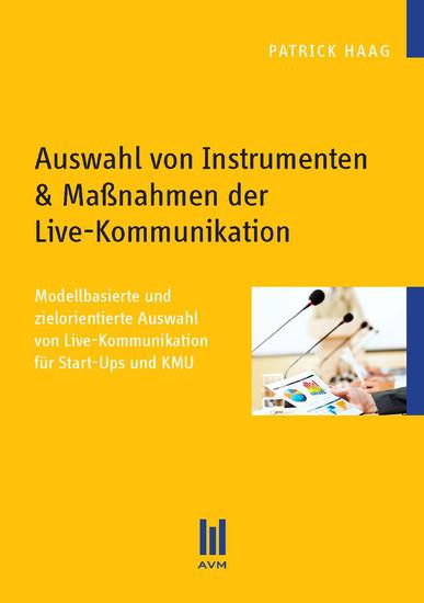 Auswahl von Instrumenten & Maßnahmen der Live-Kommunikation - Blick ins Buch