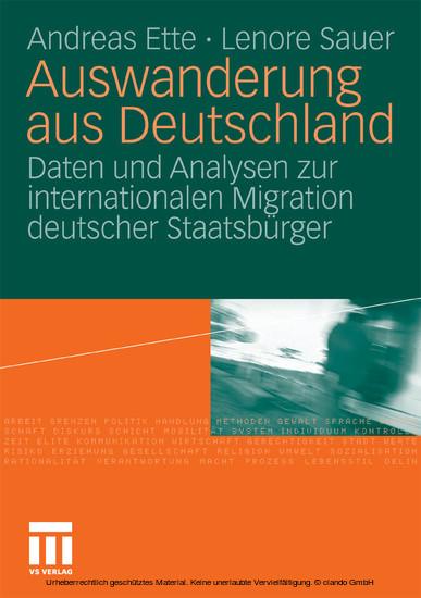Auswanderung aus Deutschland - Blick ins Buch