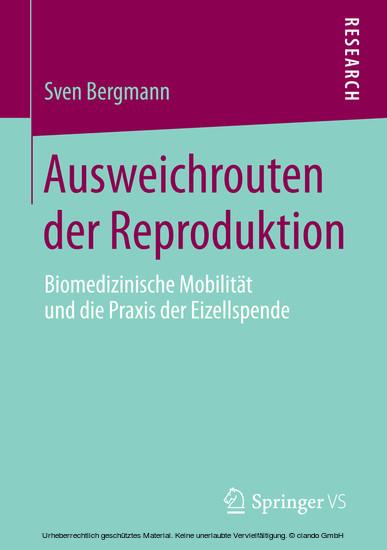 Ausweichrouten der Reproduktion - Blick ins Buch
