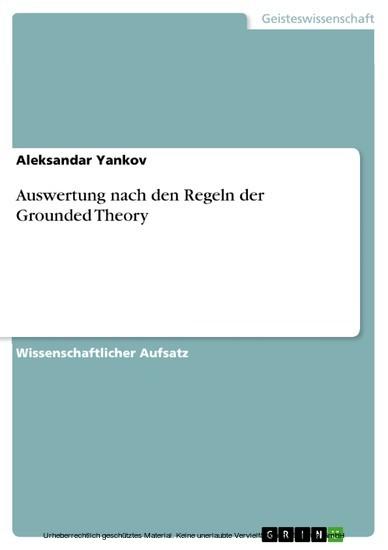 Auswertung nach den Regeln der Grounded Theory - Blick ins Buch
