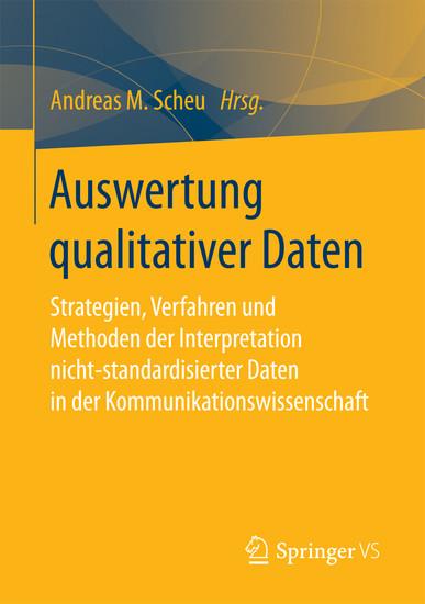 Auswertung qualitativer Daten - Blick ins Buch