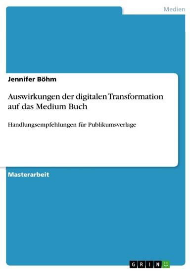 Auswirkungen der digitalen Transformation auf das Medium Buch - Blick ins Buch