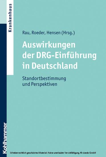 Auswirkungen der DRG-Einführung in Deutschland - Blick ins Buch