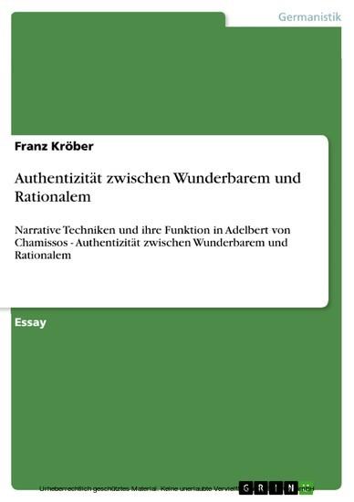 Authentizität zwischen Wunderbarem und Rationalem - Blick ins Buch