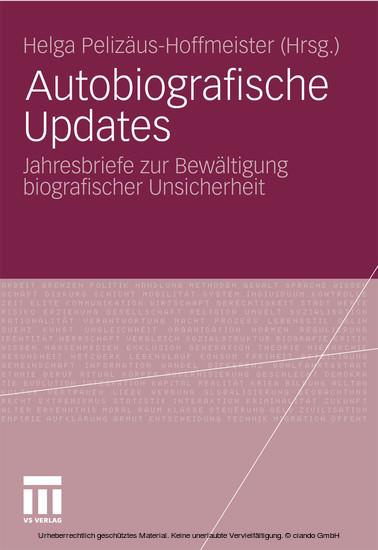 Autobiografische Updates - Blick ins Buch