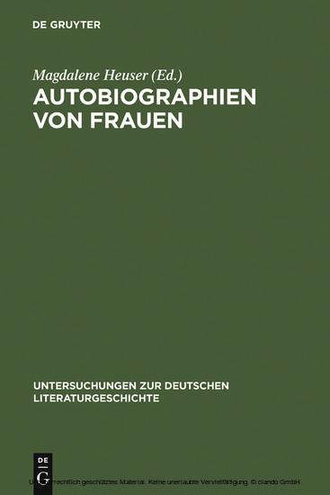 Autobiographien von Frauen - Blick ins Buch