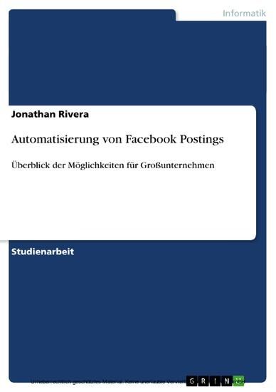 Automatisierung von Facebook Postings - Blick ins Buch