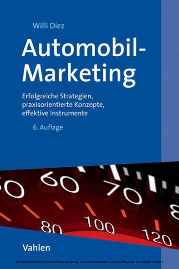 Automobil-Marketing - Blick ins Buch