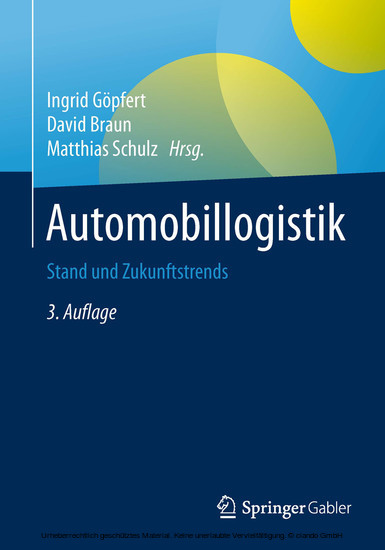 Automobillogistik - Blick ins Buch