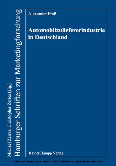 Automobilzuliefererindustrie in Deutschland - Blick ins Buch