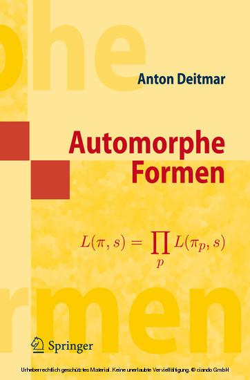 Automorphe Formen - Blick ins Buch