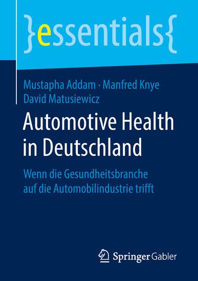 Automotive Health in Deutschland - Blick ins Buch
