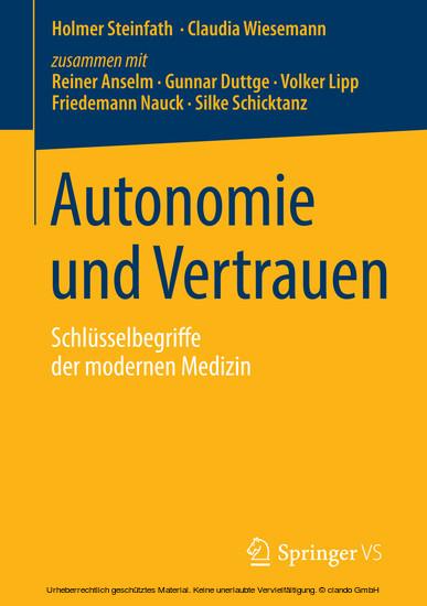 Autonomie und Vertrauen - Blick ins Buch