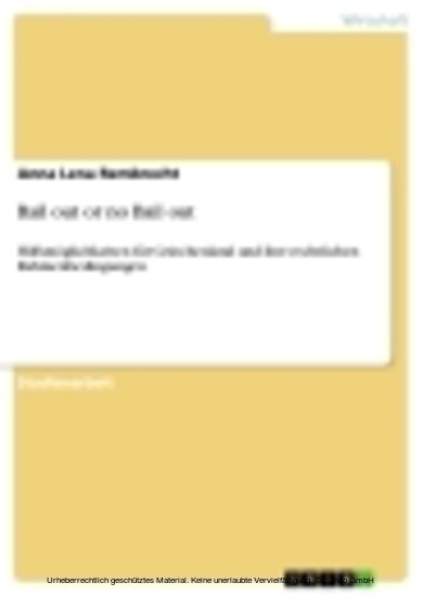 Bail out or no Bail out - Blick ins Buch