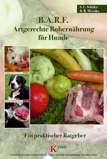 B.A.R.F. - Artgerechte Rohernährung für Hunde - Blick ins Buch