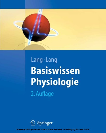 Basiswissen Physiologie - Blick ins Buch