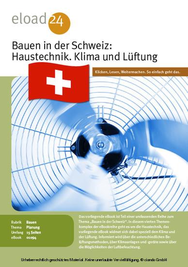 Bauen in der Schweiz: Haustechnik. Klima und Lüftung - Blick ins Buch