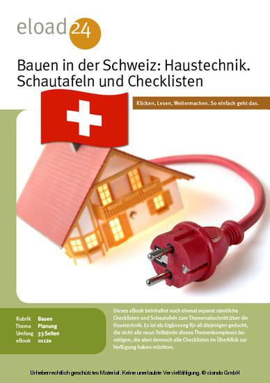 Bauen in der Schweiz: Haustechnik. Schautafeln und Checklisten - Blick ins Buch
