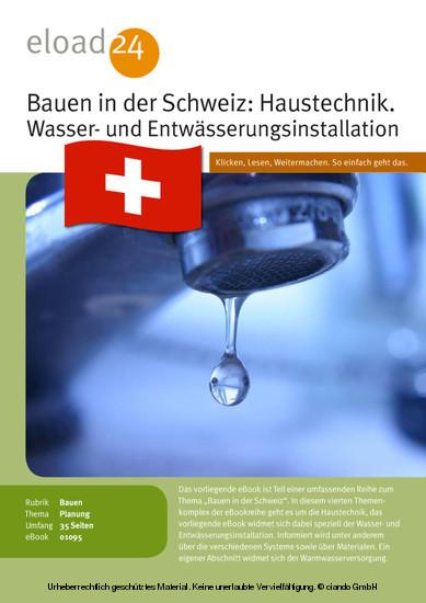 Bauen in der Schweiz: Haustechnik. Wasser- und Entwässerungsinstallation - Blick ins Buch