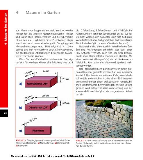 Bauen und Handwerken im Garten - Blick ins Buch