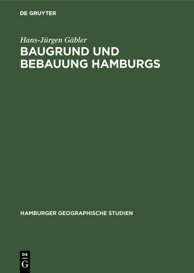 Baugrund und Bebauung Hamburgs - Blick ins Buch