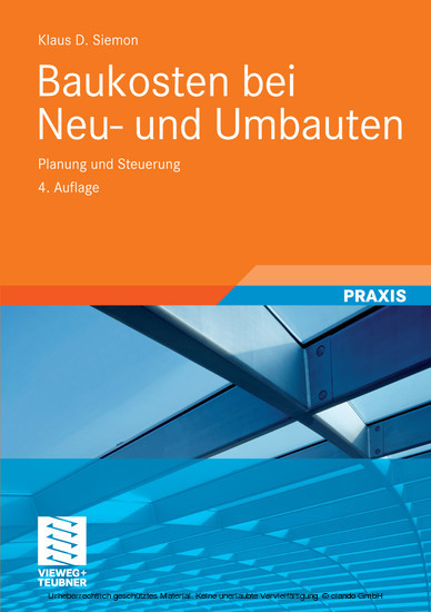 Baukosten bei Neu- und Umbauten - Blick ins Buch