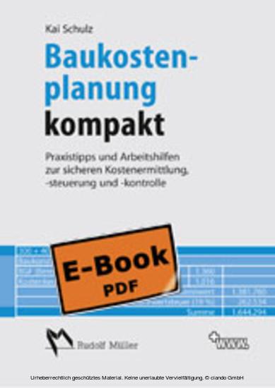 Baukostenplanung kompakt - Blick ins Buch