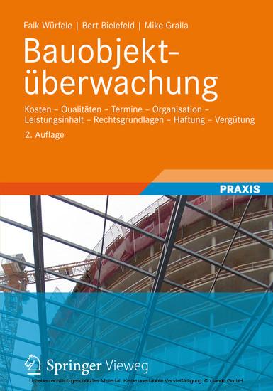 Bauobjektüberwachung - Blick ins Buch