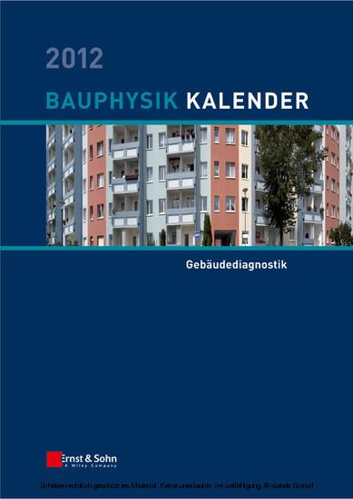 Bauphysik-Kalender 2012 - Blick ins Buch