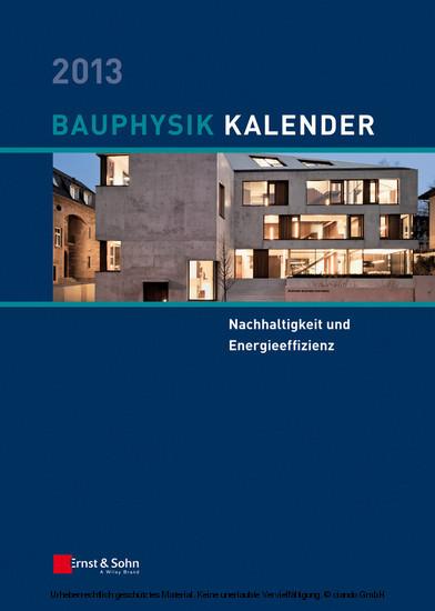 Bauphysik-Kalender 2013 - Blick ins Buch