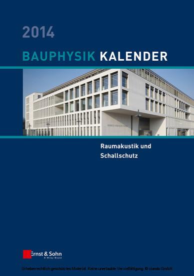 Bauphysik-Kalender 2014 - Blick ins Buch