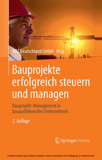 Bauprojekte erfolgreich steuern und managen - Blick ins Buch