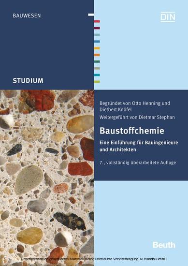 Baustoffchemie - Blick ins Buch