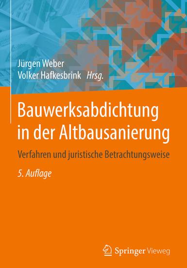Bauwerksabdichtung in der Altbausanierung - Blick ins Buch