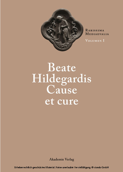 Beate Hildegardis Cause et cure - Blick ins Buch